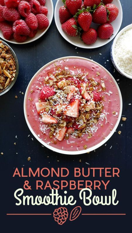 Almond Butter & Raspberry Smoothie Bowl